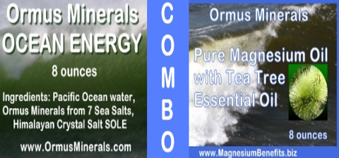 Ormus Mineral Ocean Energy and PURE Magnesium Oil with Tea Tree