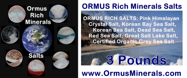 7 Rich Ormus Minerals Salts Combinations 3 lb